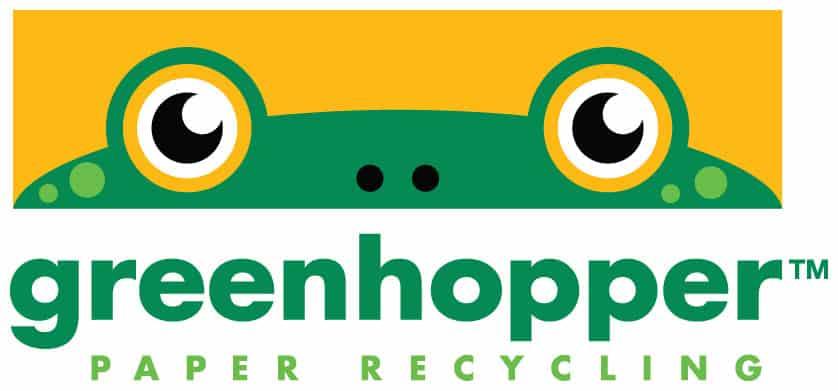 Greenhopper Paper Recycling Logo Design