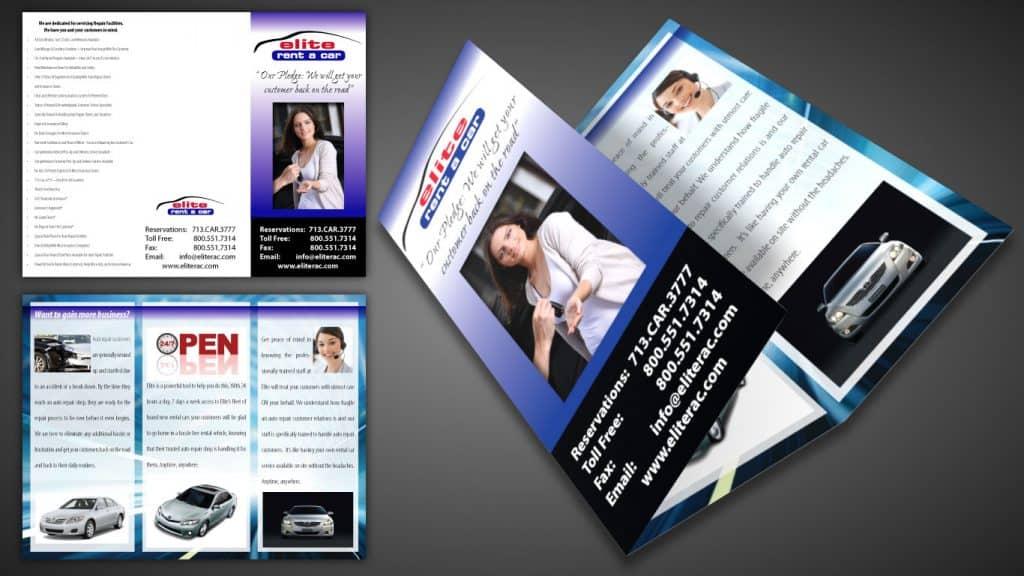 Elite rent a car Brochure Design