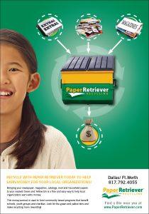 Paper Retriever ad design