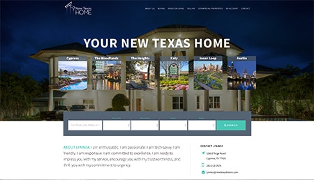 New Texas Home Website Design